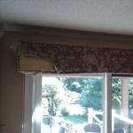 Wooden valance before