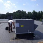 Rooftop Installation unit at CT Tool in Plainville, CT
