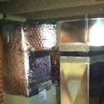 Installation of duct work on a new American Standard warm air furnace, by Dave True
