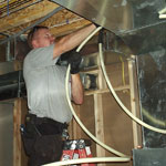 Doug installing Radiant heat piping