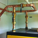 Kaiser air compressor Piping installation